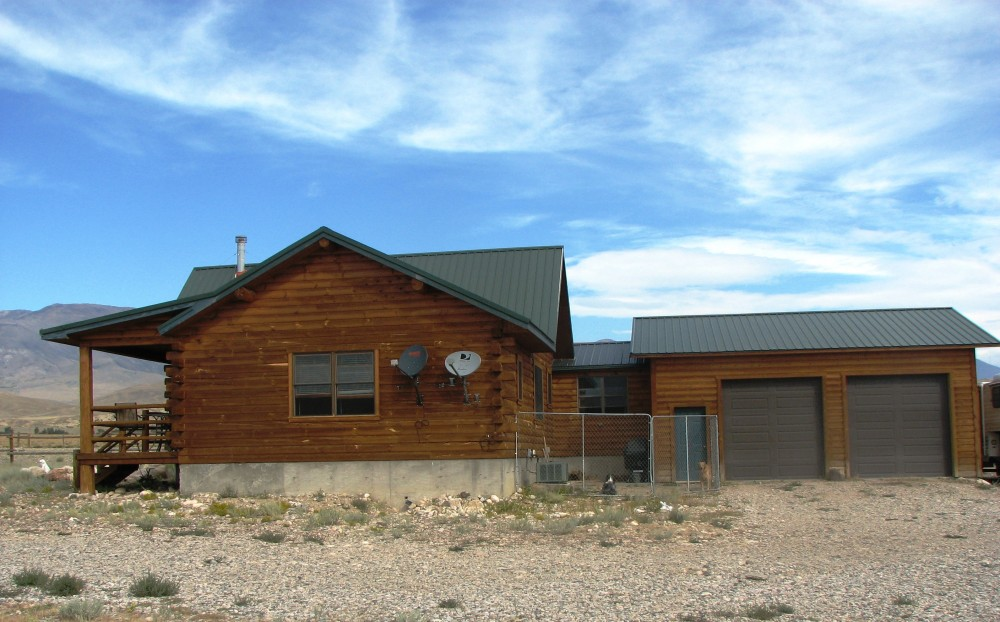 54 Acres With Log Home Clark Wyoming Home For Sale